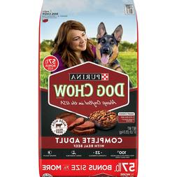 purina complete adult dry dog food beef