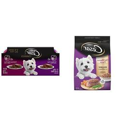 Cesar Small Dog Food Variety Pack With 5 Lb Bag Of Filet Mig