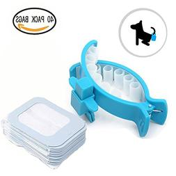 Homboon Dog Poop Clip, Hands Free Doggy Feces Container,Port
