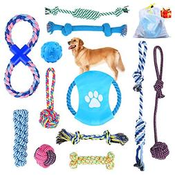 Dog Rope Toys Puppy Chew Toys Set of 12, HonFei Dog Cotton R