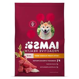 Iams Dry Dog Food Beef and Rice Proactive Health Food for Do