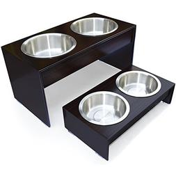 PetFusion Elevated Dog Bowls in Grade A New Zealand Pine . W