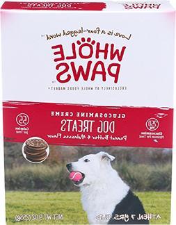Whole Paws Glucosamine Creme Dog Treats, Peanut Butter & Mol