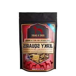Gourmet Jerky Dog Square Treats - Slowly Roasted, Soft, & Yu