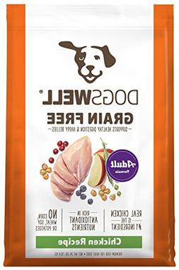 Dogswell Grain Free Chicken Adult Formula Dry Dog Food, 1Pie