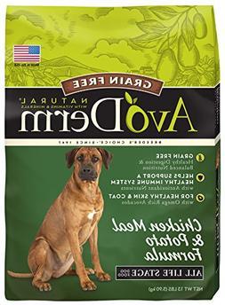 AvoDerm Grain Free Chicken Meal & Potato Dry Dog Food, 13 lb