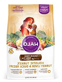Halo Grain Free Natural Dry Dog Food, Senior Turkey, Turkey