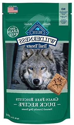 Blue Wilderness Grain-Free Duck Biscuits Trail Dog Treats, 1
