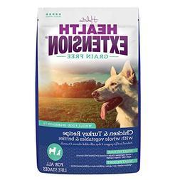 Health Extension Grain Free Chicken & Turkey Recipe, 23.5-po