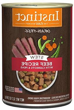 Instinct Grain Free Stews Beef Recipe with Carrots & Peas Na