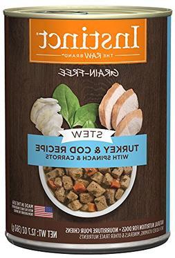 Instinct Grain Free Stews Turkey & Cod Recipe with Spinach &