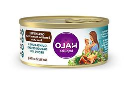Halo Grain Free Natural Wet Cat Food, Sensitive Stomach Guin