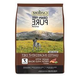 CANIDAE Grain Free Pure Wild Adult Fresh Wild Boar Dog Food,