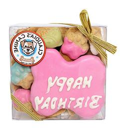 Happy Birthday Assorted Dog Treats in Pink by Claudia's Cani