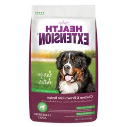 Health Extension Chicken & Brown Rice Large Bites Dry Dog Fo