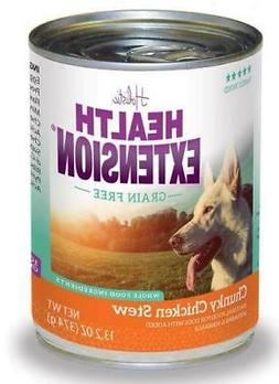 Health Extension Grain Free Chunky Chicken Stew Canned Dog F