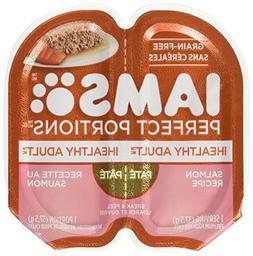 Iams Healthy Adult Grain Free Wet Cat Food, Salmon Pate, 2.6