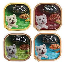 Cesar Home Delights Dog Food 4 Flavor 8 Can Bundle:  Beef St