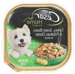 Cesar HOME DELIGHTS Wet Dog Food Turkey, Green Beans & Potat