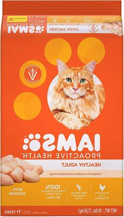 Iams Proactive Health Adult Dry Cat Food Chicken & Salmon Re