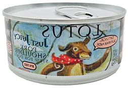 Lotus Just Juicy pork shoulder stew for dogs 5.5 ounces case