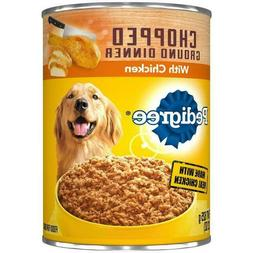 Pedigree K1107600 Chopped Dinner with Chicken Canned Dog Foo