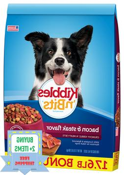 Kibbles 'n Bits Bacon and Steak Flavored Dry Dog Food 17.6 l