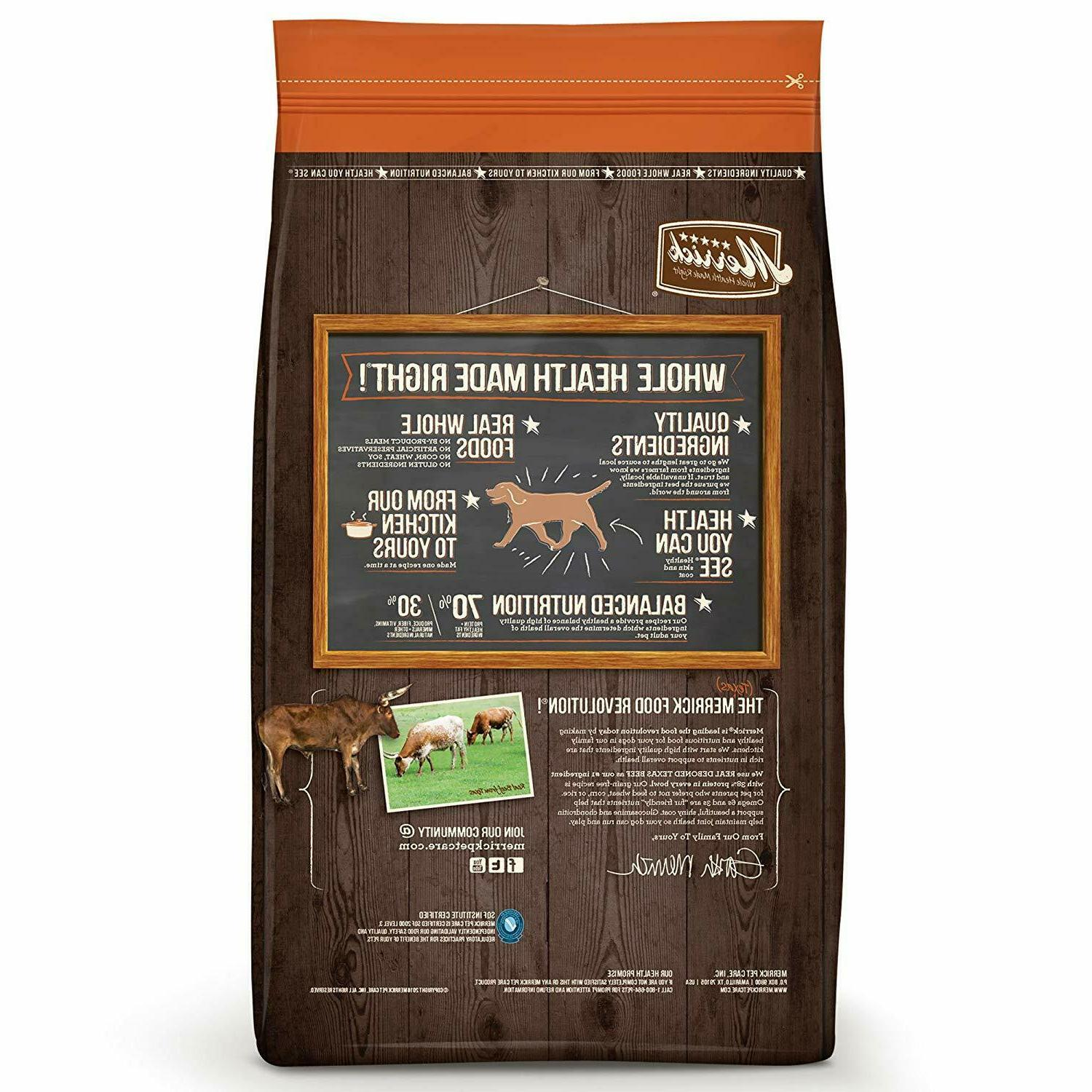 2 bags Grain-Free Real Texas & Sweet Potato Dog 25