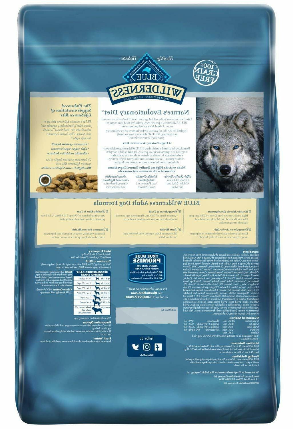 2 Blue Buffalo Recipe Grain-Free Dog Food 24