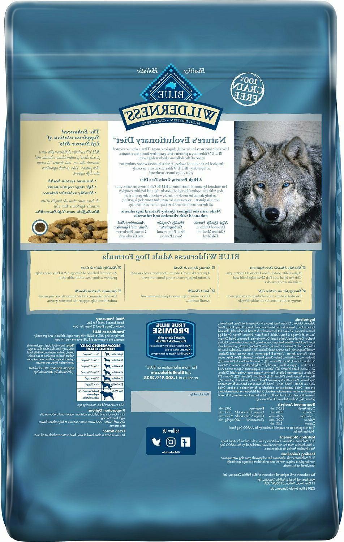 24 Blue Wilderness Grain-Free Dry Dog Food Free ship