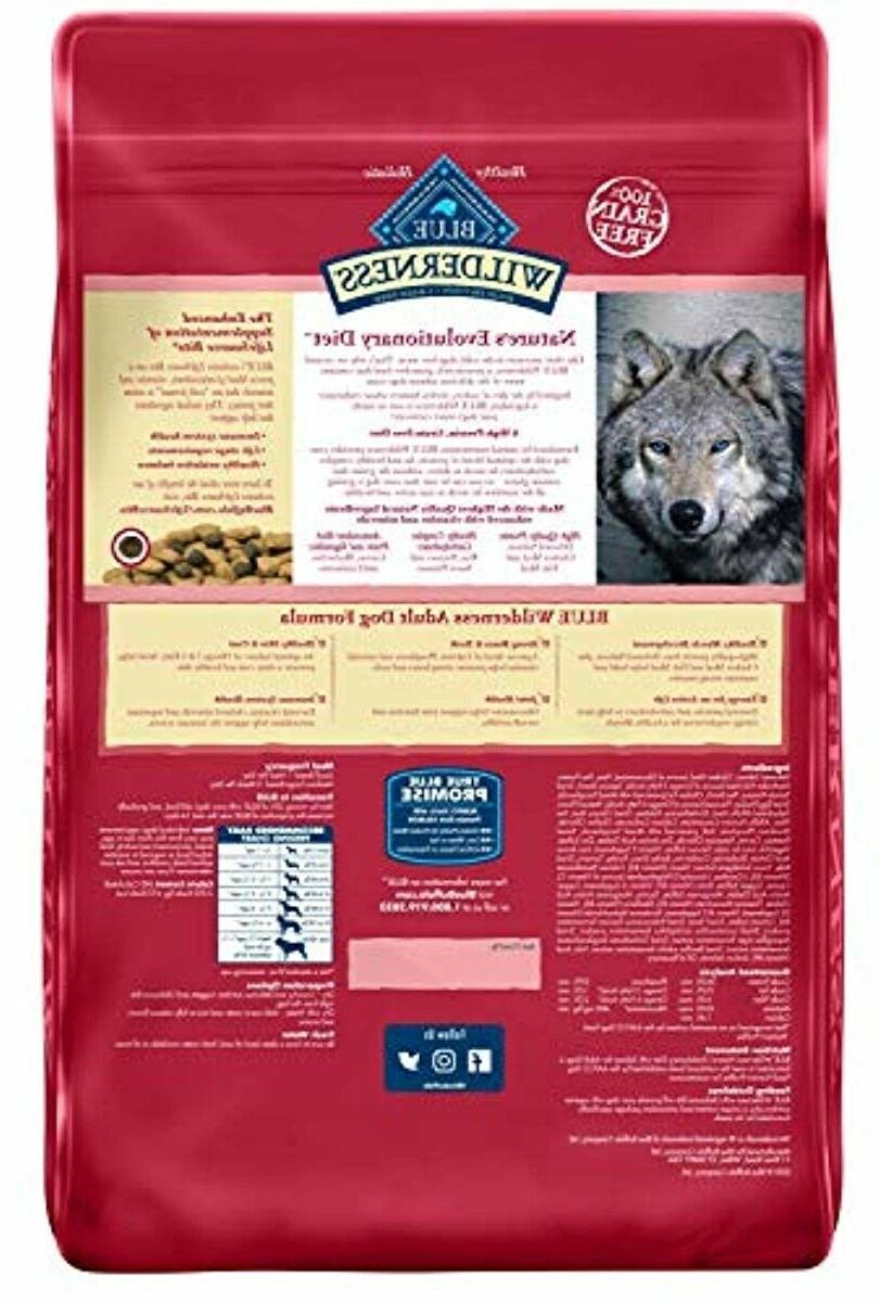24lb Blue Buffalo Wilderness High Protein Grain Free, Natural Adult Dry Dog Food