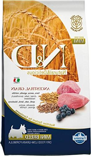 Farmina Natural & Delicious Lamb & Blueberry Low-Grain Mini