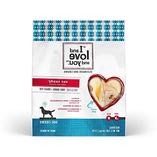 I and love and you, Natural Dog Chews, Ear Candy Beef Ear Ch