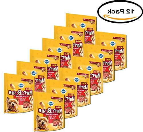 PACK OF 12 - PEDIGREE MARROBONE Real Beef Flavor Toy/Small S