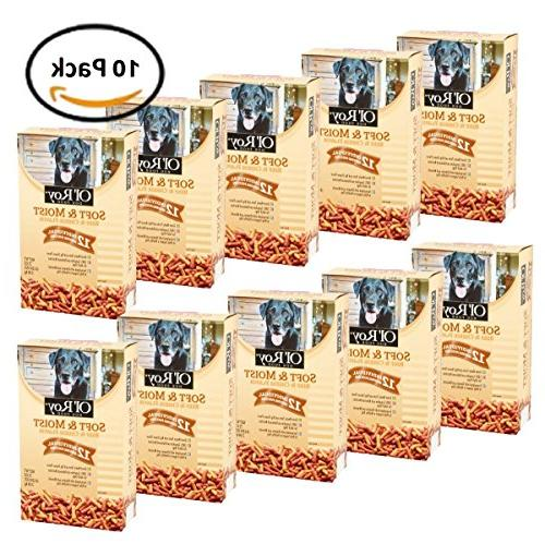 Pack of 10 - Ol' Roy Soft & Moist Beef & Cheese Flavor Dog F