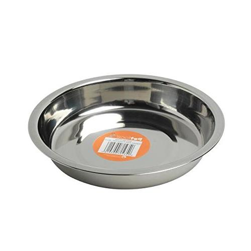 Petface Stainless Steel Shallow Dish