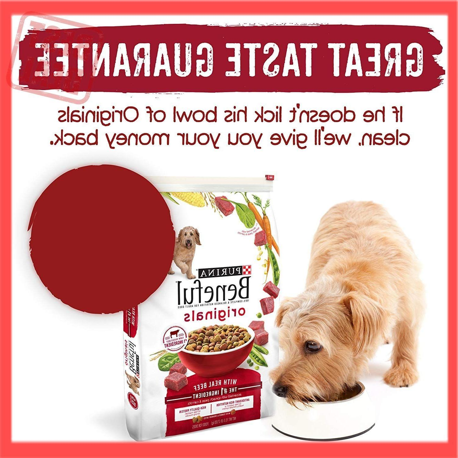 Purina Originals With Real Dry Dog Food 15.5 lb. Bag