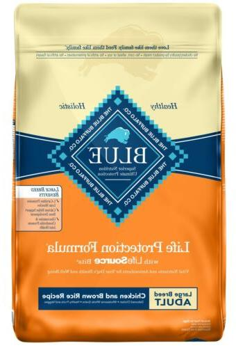 blue life large breed adult dog food