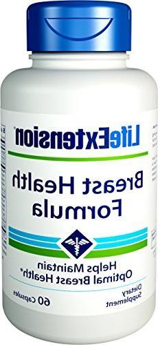 Life Extension Breast Health Formula 60 Vegetarian Capsules