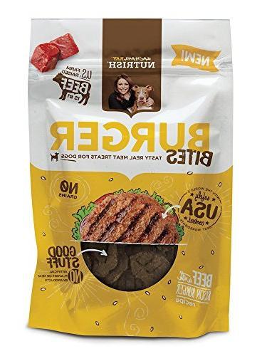 burger bites dog treats