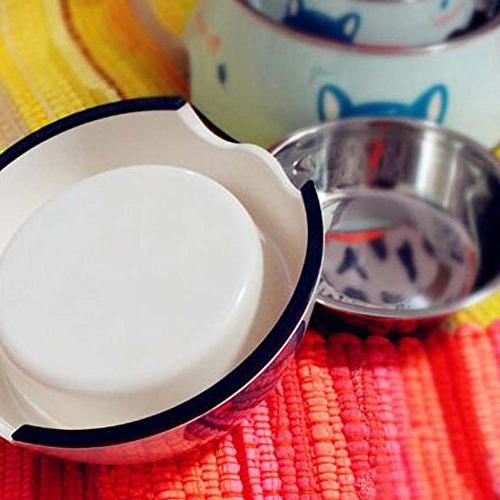 PANDA SUPERSTORE Cute Dog Pet Bowl Dogs Stainless