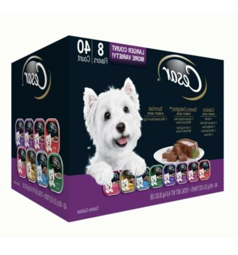 Cesar Canine Cuisine Wet Dog Food, 8 Flavor Variety Pack in