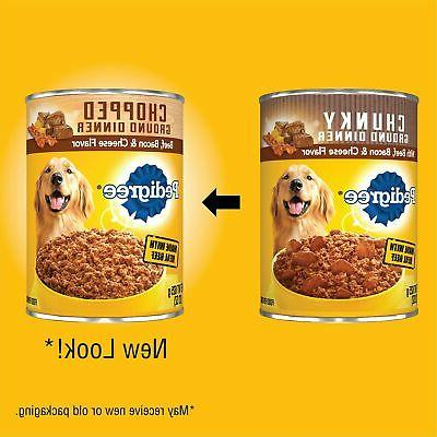 Pedigree Canned Balanced Wet Beef Cheese 12 Pk 22