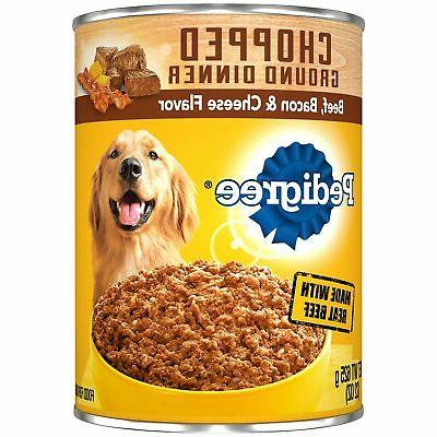 canned balanced chopped wet pet dog food