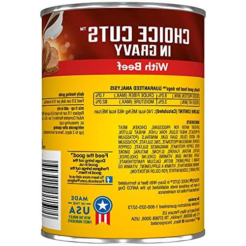 Pedigree Choice Cuts In Gravy With Beef Adult Canned Wet Dog 22 Oz. Cans