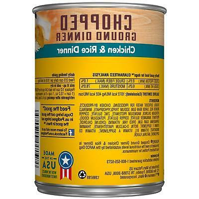 Pedigree Chopped Ground Dinner Adult Wet Canned Dog Food