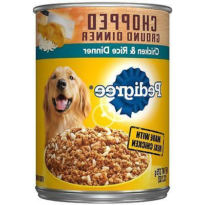 Pedigree Ground Adult Wet Canned Food Chicken&Rice