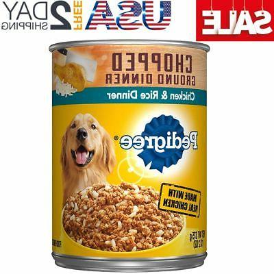 chopped ground dinner adult wet canned dog
