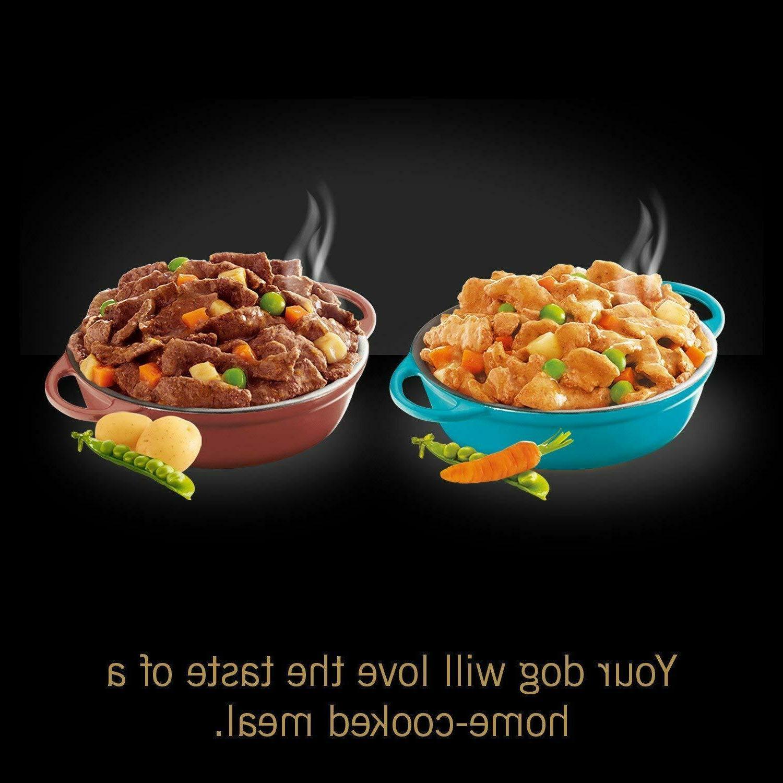 Cesar Wet Dog Food Variety Packs, Chicken & Stew, of 24