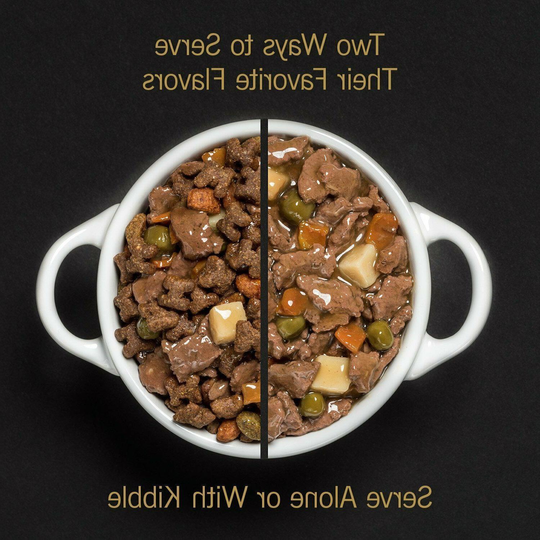 Cesar Wet Food Packs, Chicken & Beef Stew, of